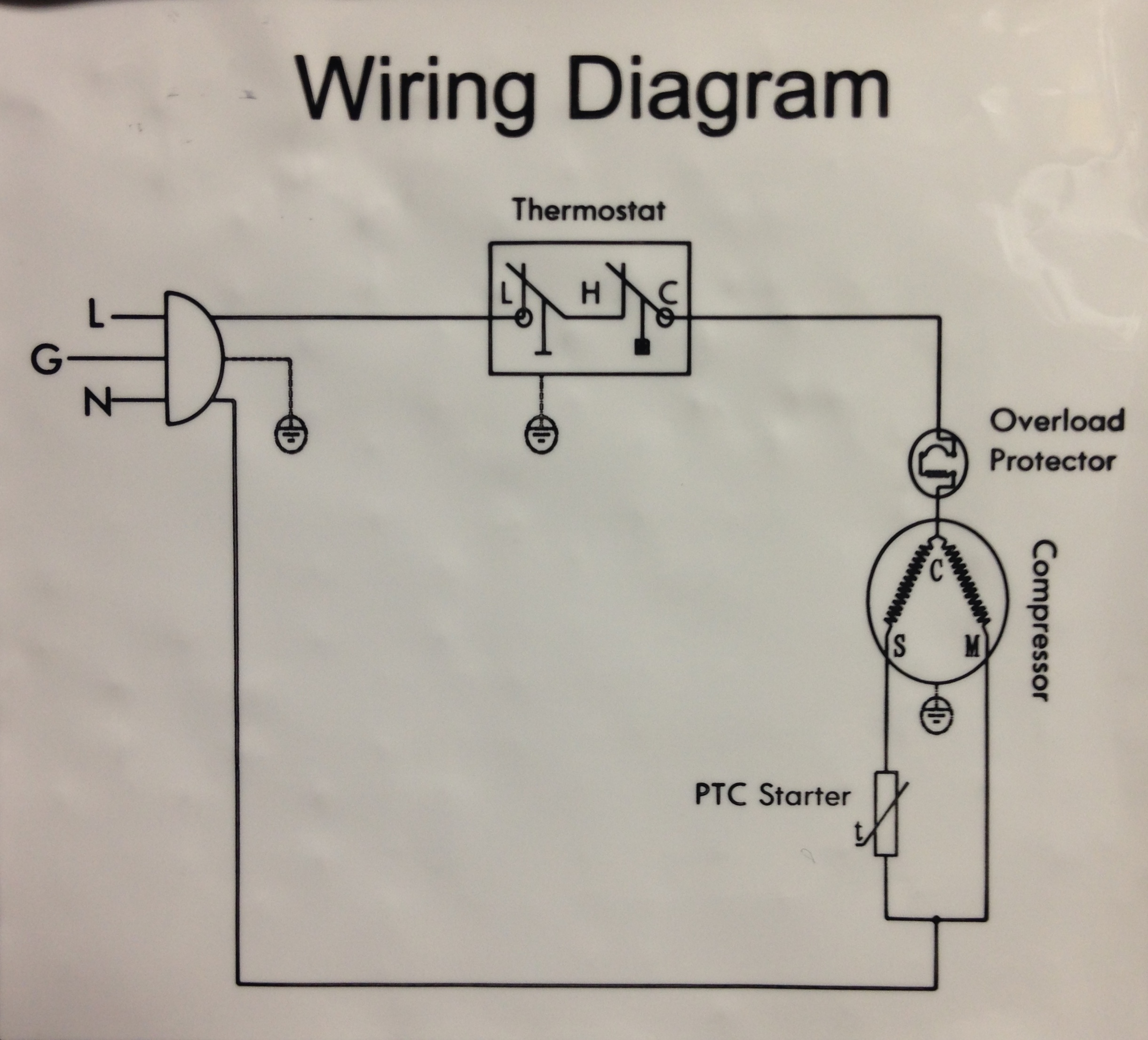 refrigerator wire diagram refrigerator thermostat wiring diagram refrigerator wiring description image b below you can see the wall black