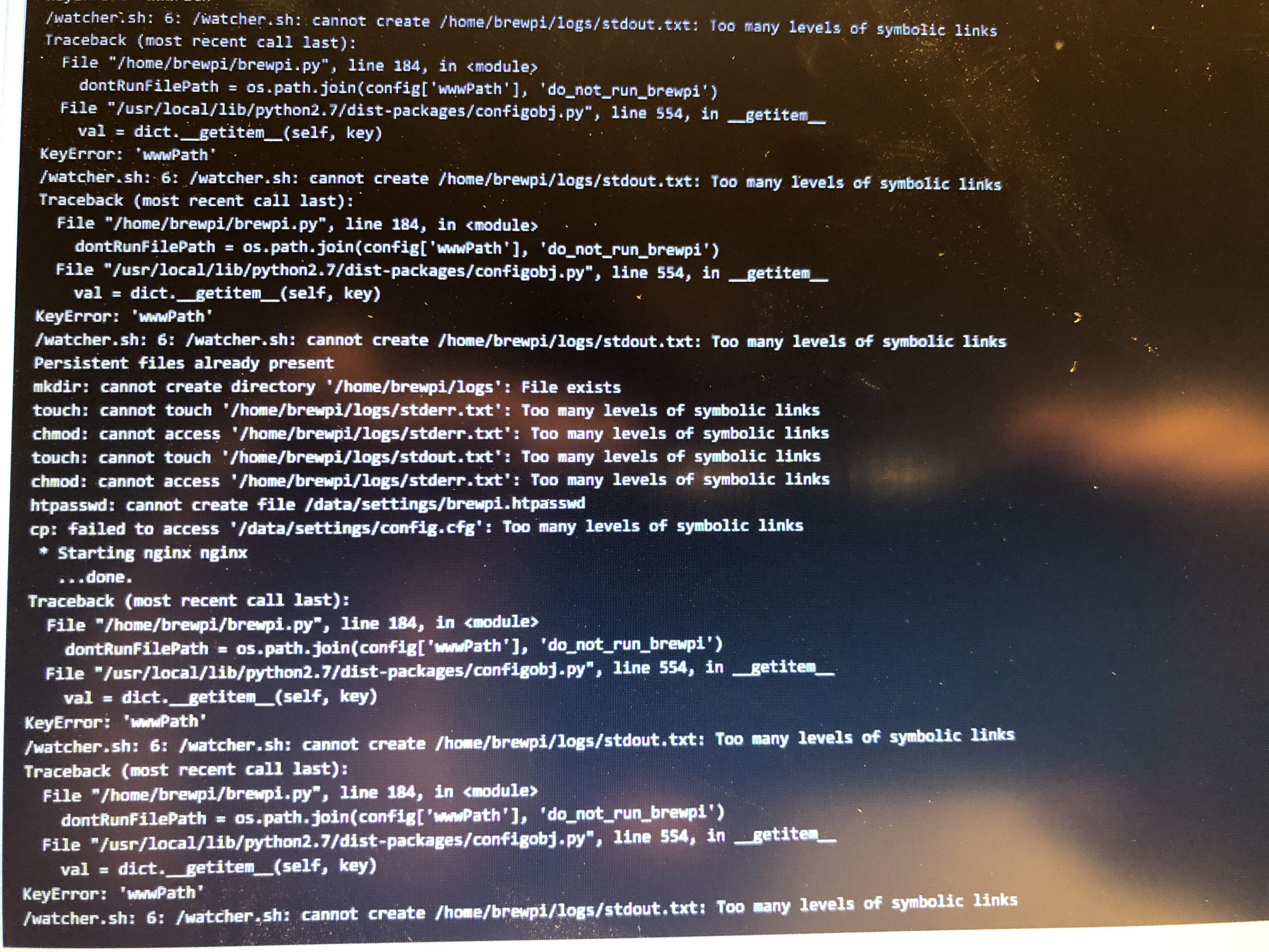 Script not running - nothing changed - Troubleshooting - BrewPi